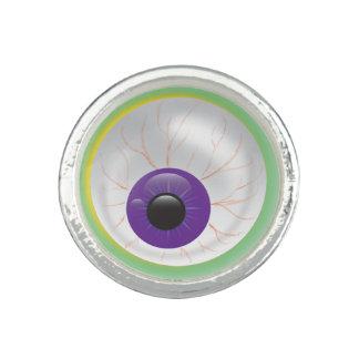 紫色の気色悪い眼球のリングのハロウィンモンスターの目 指輪