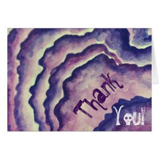 紫色の気難しなNikki ノートカード