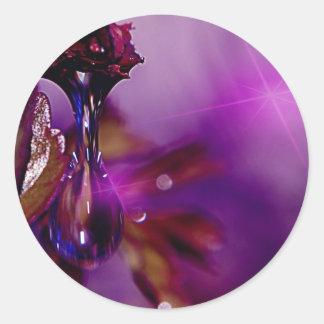 紫色の水低下 ラウンドシール