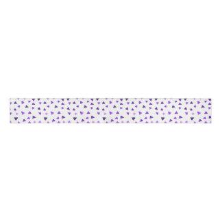 紫色の水彩画の三角形 グログランリボン