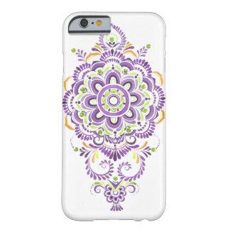 紫色の水彩画の曼荼羅の花の電話箱 BARELY THERE iPhone 6 ケース