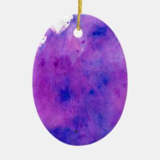 紫色の水彩画の染み セラミックオーナメント
