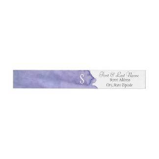 紫色の水彩画の覆いの宛名ラベル ラップアラウンド返信用宛名ラベル