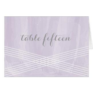 紫色の水彩画のDecoのテーブル数 グリーティングカード