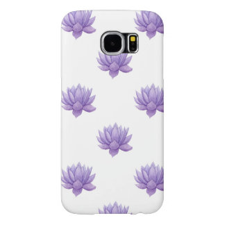 紫色の水彩画のSucculent Samsung Galaxy S6 ケース
