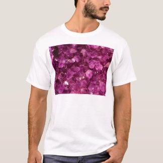 紫色の水晶の紫色の宝石 Tシャツ