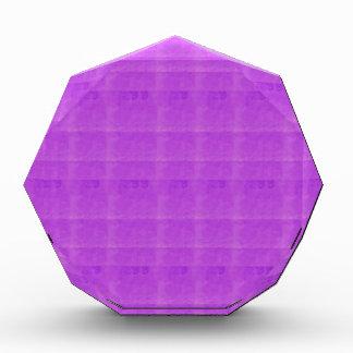 紫色の水晶テンプレートはtxt imgのエレガントなギフトを加えます 表彰盾