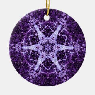 紫色の水晶宝石の記憶オーナメント セラミックオーナメント