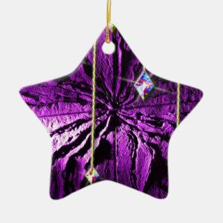 紫色の水晶情熱 セラミックオーナメント