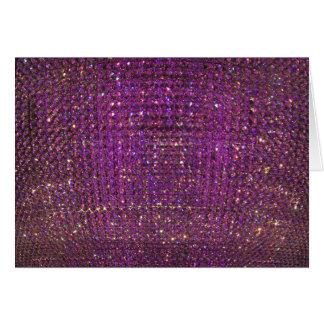 紫色の水晶背景 カード