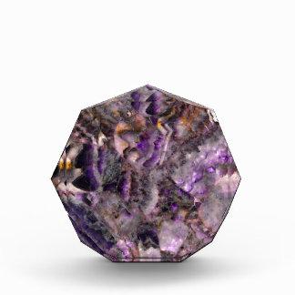 紫色の水晶 表彰盾