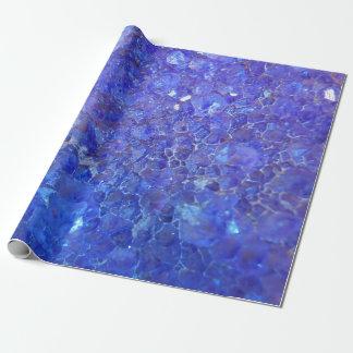 """紫色の水晶/Geodeの石の包装紙30"""" x6 ラッピングペーパー"""