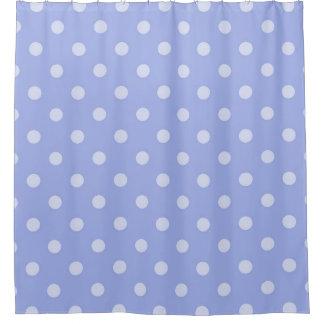 紫色の水玉模様のシャワー・カーテン シャワーカーテン