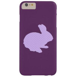 紫色の水玉模様のシルエットのバニーのiPhone6ケース Barely There iPhone 6 Plus ケース