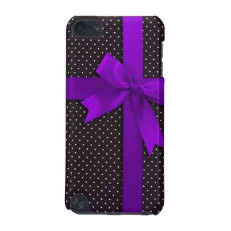 紫色の水玉模様のリボン iPod TOUCH 5G ケース