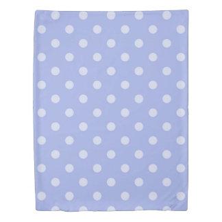 紫色の水玉模様の羽毛布団カバー 掛け布団カバー