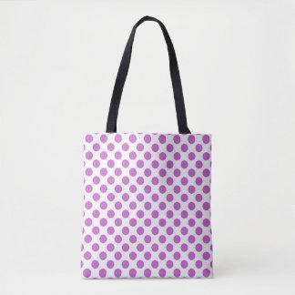紫色の水玉模様パターン トートバッグ