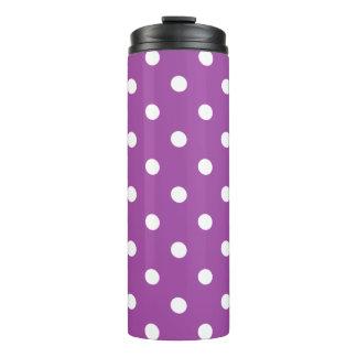 紫色の水玉模様 タンブラー