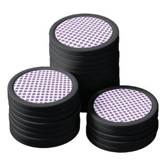 紫色の水玉模様 ポーカーチップ