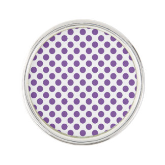 紫色の水玉模様 ラペルピン