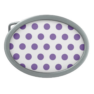 紫色の水玉模様 卵形バックル