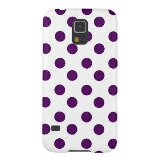 紫色の水玉模様 GALAXY S5 ケース