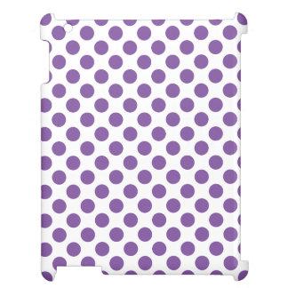 紫色の水玉模様 iPadケース