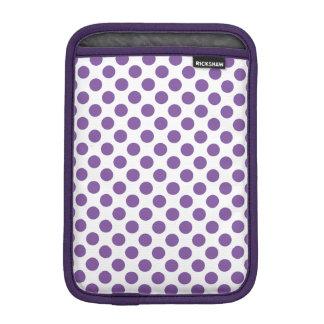 紫色の水玉模様 iPad MINI用スリーブ