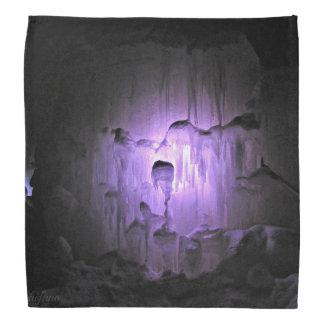 紫色の氷洞 バンダナ