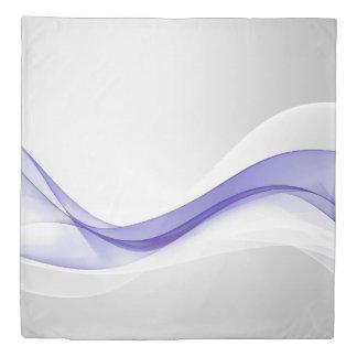 紫色の波の抽象芸術(1つの側面)の女王の羽毛布団カバー 掛け布団カバー