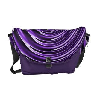 紫色の波 クーリエバッグ