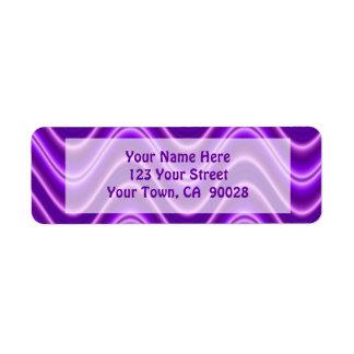 紫色の波 ラベル