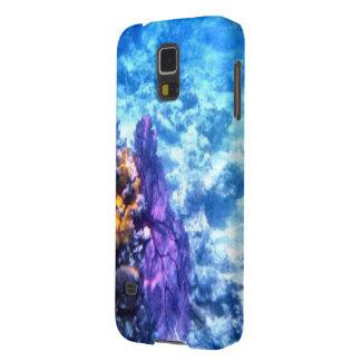 紫色の海ファンの箱 GALAXY S5 ケース