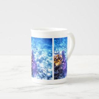 紫色の海ファン ボーンチャイナカップ