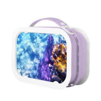 紫色の海ファン ランチボックス