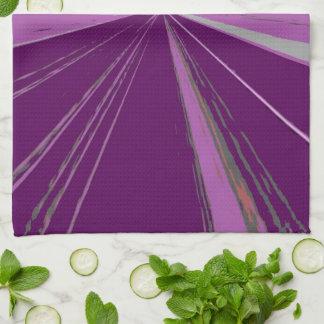 紫色の消失点の台所タオル キッチンタオル