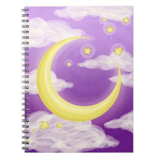 紫色の淡い色のな月 ノートブック