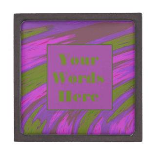 紫色の淡黄緑のモダンな棒の抽象芸術 ギフトボックス