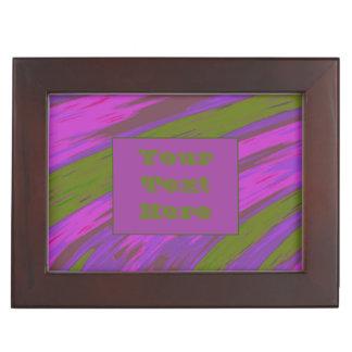 紫色の淡黄緑のモダンな色の棒 ジュエリーボックス