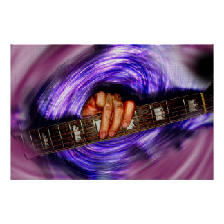 紫色の渦の芸術のプリント ポスター