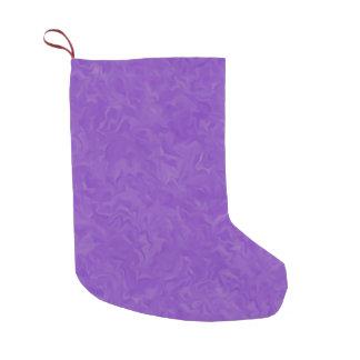 紫色の渦巻いた色合い スモールクリスマスストッキング