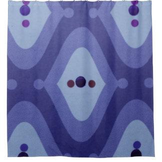 紫色の渦巻のシャワー・カーテン シャワーカーテン