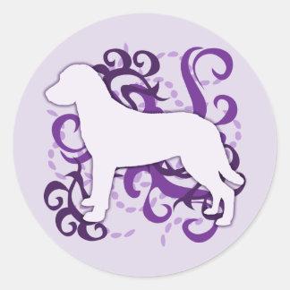 紫色の渦巻のチェサピーク・ベイ・レトリーバー ラウンドシール