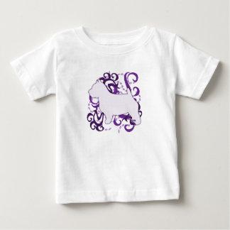 紫色の渦巻のノリッジテリア ベビーTシャツ