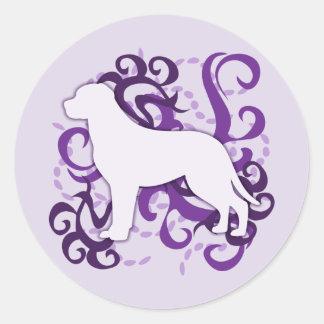 紫色の渦巻より素晴らしいスイス山犬 ラウンドシール