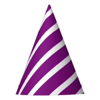 紫色の渦巻 パーティーハット