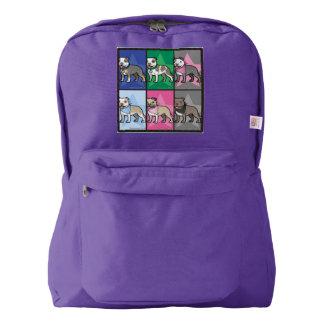 紫色の漫画のStaffy愛バックパック American Apparel™バックパック