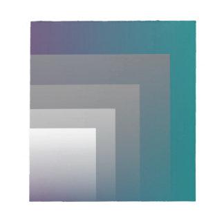 紫色の灰色のティール(緑がかった色) ノートパッド