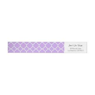 紫色の灰色白の同世代の人のクローバー ラップアラウンドラベル