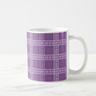 紫色の点検パターン コーヒーマグカップ